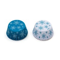 Decora Baking Cups Sneeuwster -36st-