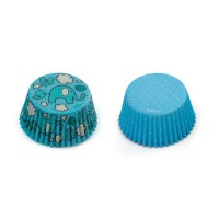 Decora Baking Cups Blue Elephants & Dots -36st-