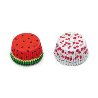 Decora Baking Cups Summer Fruits -36st-
