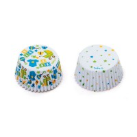 Decora Baking Cups Baby Party & Dots -36st-