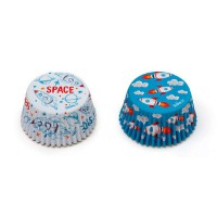 Decora Baking Cups Space -36st-