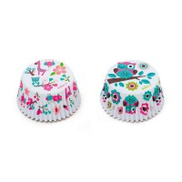 Decora Baking Cups Owl & Giraffe -36st-