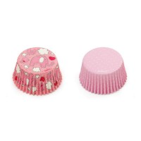Decora Baking Cups Pink Elephants & Dots -36st-