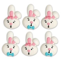 Decora Sugar Decoration Funny Bunny -6st-