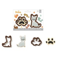 Decora Cookie Cutter Set Cat & Print -2st-