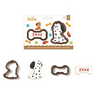 Decora Cookie Cutter Set Dog & Bone -2st-