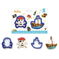 Decora Cookie Cutter Set Skull & Boat -2st-