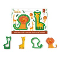 Decora Cookie Cutter Set Giraffe & Lion -2st-