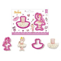 Decora Cookie Cutter Set Dancer & Tutu -2st-