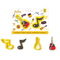 Decora Cookie Cutter Set Note & Guitar -2st-