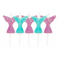 Mermaid Glitter Candles -5st-