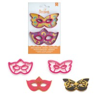 Decora Cookie Cutter Set Masks -2st-