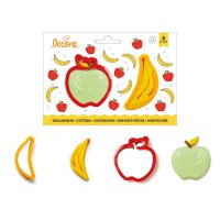 Decora Cookie Cutter Set Banana & Apple -2st-