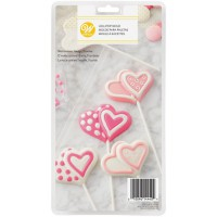 Wilton Chocolate & Candy LolliMold Double Heart