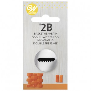 Wilton Decorating Tip 2B Basketweave