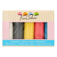 FunCakes Rolfondant Multipack Primary Colours -5x100gr-