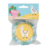 Baked With Love Foil Baking Cups Llama -24st-