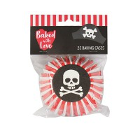 Baked With Love Foil Baking Cups Pirates -24st-