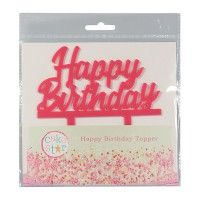 Cake Star Taarttopper Happy Birthday Roze