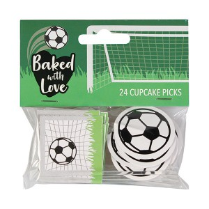 Baked with Love Cupcake Toppers Voetbal -24st-