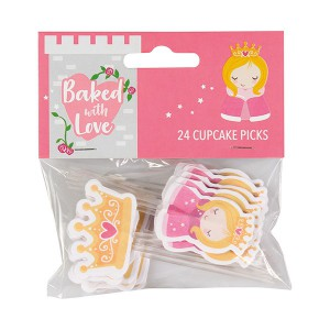 Baked with Love Cupcake Toppers Princess -24st-
