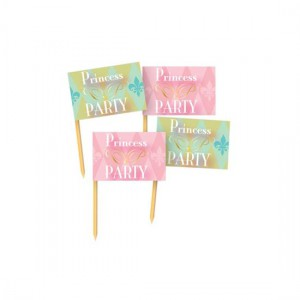 Cupcake Toppers Vlag Princess Party -36st-
