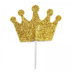 Creative Party Cupcake Toppers Kroon Goud -12st-