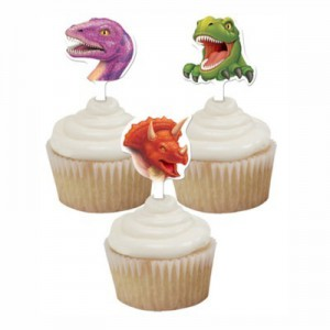 Creative Party Cupcake Toppers Dino Blast -12st-