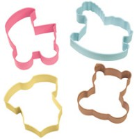 Wilton Cookie Cutter Set Baby Theme -4st-