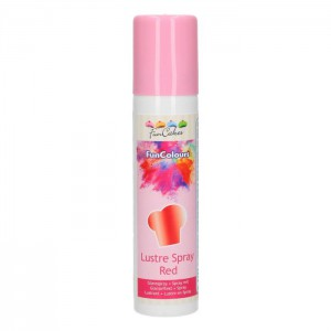 FunCakes FunColours Lustre Spray Red -100ml-