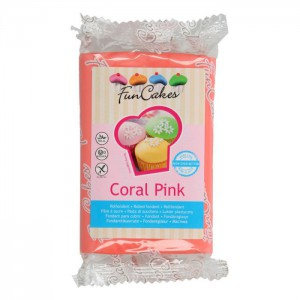 FunCakes Rolfondant Roze Coral Pink -250gr-