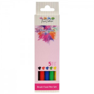 FunCakes FunColours Brush Food Pen Primary Set -5st-