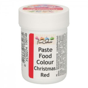 FunCakes FunColours Paste Food Colour Christmas Red -30gr-