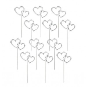Cupcake Toppers Double Heart -12st-
