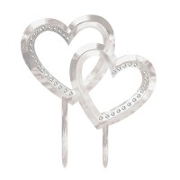 Cake Topper Double Heart