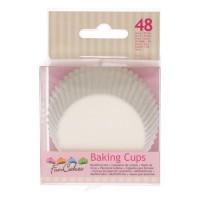 FunCakes Baking Cups White -48st-