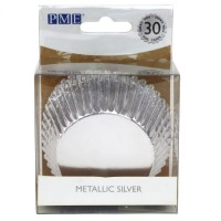 PME Baking Cups Metallic Silver -30st-