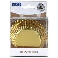 PME Baking Cups Metallic Gold -30st-