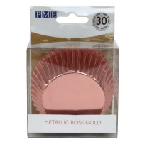 PME Baking Cups Metallic Rose Gold -30st-