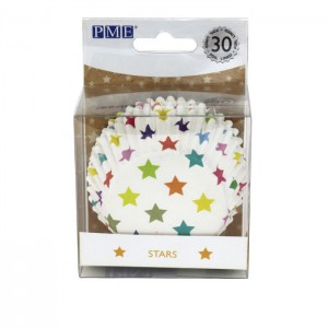 PME Foil Lined Baking Cups Stars -30st-