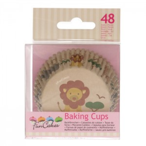 FunCakes Baking Cups Safari Animals -48st-