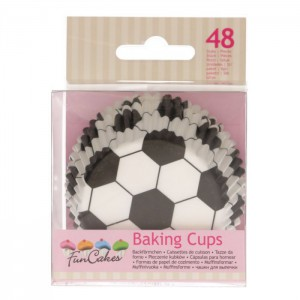 FunCakes Baking Cups Voetbal -48st-