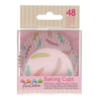 FunCakes Baking Cups Pastel Feathers -48st-
