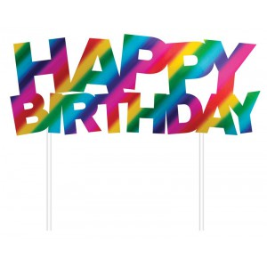 Creative Party Cake Topper Foil Happy Birthday