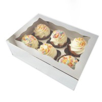 Luxe 6-Cupcake Box Silver -2st-