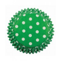 PME Baking Cups Polka Dots Green -60st-