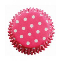 PME Baking Cups Polka Dots Pink -60st-