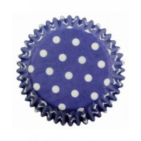 PME Baking Cups Polka Dots Blue -60st-