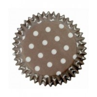 PME Baking Cups Polka Dots Brown -60st-