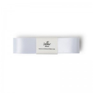Decora Double Satin Ribbon White -25mm- //